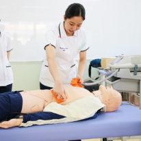 【看護学科】卒業前技術練習を行いました!
