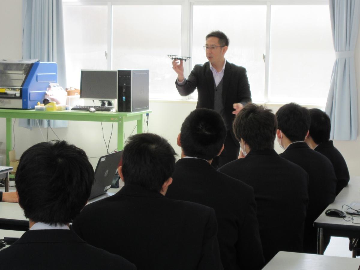 小野田工業高校へ出前講座に行ってきました!