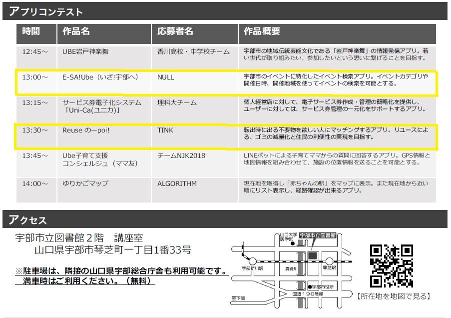 【高度情報・IT】宇部市オープンデータアプリコンテストへ出場します!